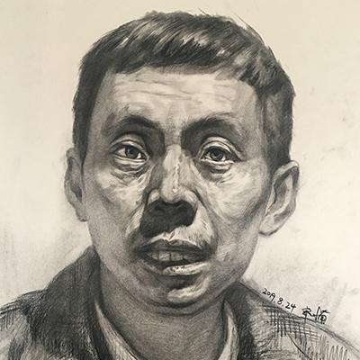 郭楠-人像素描