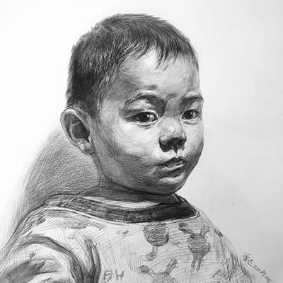 王老师-人像素描